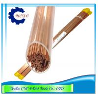 Buy cheap Dia 0.5mm EDM Copper Electrode Tube / Pipe Double Holes For EDM Drilling Machine product