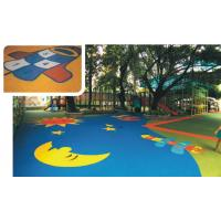 China EPDM Rubber Sports Flooring Colored For Safety Playground / Leisure Area / Park on sale