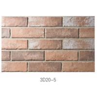 3D20-5 Ancient Thin Clay Brick For Outside Wall Installation Easily