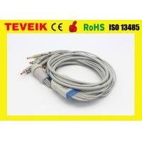 Integrated 10 Lead Wires AHA ECG Cable for Kenz EKG Machine Round 16 Pin