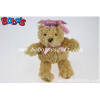 "Buy cheap 6"" Plush Education Teddy Bear With Pink Crazy Hats product"