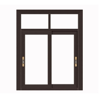 Buy cheap Two Track Aluminium Sliding Windows With Mosquito Net Heat Insulated Glass product