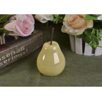 Buy cheap Pearl Glazed Ceramic Pear Dining Kitchen Room Table Centerpiece Fruit Decoration product
