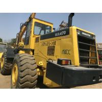 Buy cheap 260.2HP Komatsu WA470 Second Hand Wheel Loaders , Used Compact Track Loaders product