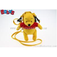 """Buy cheap 7.3"""" Stuffed Winner the Pooh Bear Toy Mobile Phone Bag with Red T-Shirt product"""
