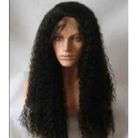 Black Long Natural Wave 18 remy human hair full lace wigs Tangle Free