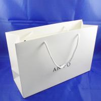 China Custom art paper bags white color custom printing wholesale