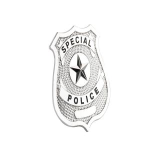 """Buy cheap Custom Silver 0.23""""-4.5"""" Police Metal Badge Country Lapel Pin Clutch product"""