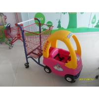China 95L Children / Kids Shopping Carts With Rear Basket And 4 Swivel Flat Caster SGS CE wholesale