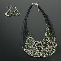Buy cheap Necklace with Plastic Beads Decoration, Fashionable, Made of Metal, Available in Various Designs product
