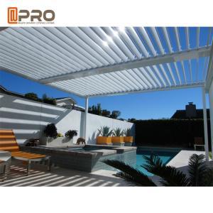 Buy cheap Sun Shade Opening Roof Modern Aluminum Pergola Outdoor Rainproof Roof Louver product