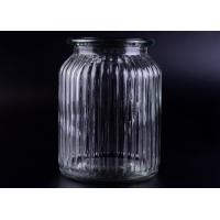 Buy cheap Clear Tall Soy Glass Bottle Candle Holders / 1000ml Glass Candlestick Holders product