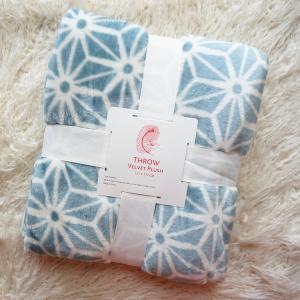 Warm Rotary Printing Flannel Print Blanket , 100 Polyester Plush Blankets 220*240CM