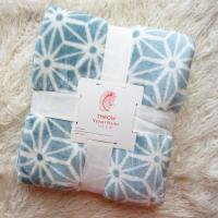 Quality Warm Rotary Printing Flannel Print Blanket , 100 Polyester Plush Blankets 220*240CM for sale