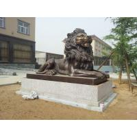 Buy cheap Bronze Casting Art Lion Sculpture for  government Decor in  Gate product