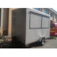 China Snack Food Kiosk Mobile Fast Food Trailer With Wheels On Outside wholesale