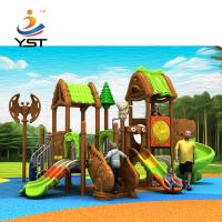 Buy cheap Kindergarten Childrens Plastic Slide , Durable Toddler Swing And Slide Set product