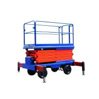 Buy cheap Auto electric scissor lifting platform 220v 80w with 1m - 18m Lifting height product