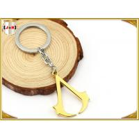 Buy cheap Hangbag Accessories Metal Key Ring , Sliver Or Golden Plating Bulk Keychain Rings product