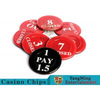 Buy cheap Red / Black  Anti - Fade Casino Game Accessories 40 Mm Plastic Insurance Code Set product