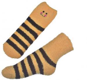 Buy cheap Yellow Smile pattern mens aloe socks Polyester plush therapy 19x13x8.5 cm product