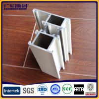 Quality Silver anodized aluminium profiles fabricate windows&doors with fly screen for sale