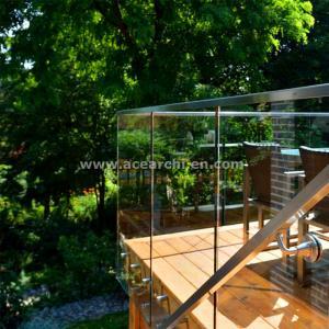 Buy cheap Shenzhen  Ace Frameless Corridor Stainless Steel Standoff Glass Railing product
