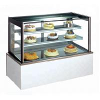 Buy cheap 1500mm Two Layers Refrigerated Cake Display Case Overall Support For Glass And Shelf product