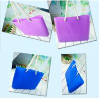Buy cheap Silicone beachs bag with cotton rope / silicone shopping beach bags /beach shoulder bags product
