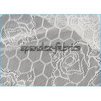 Buy cheap Lotus Flower And Hexagon Pattern Sheer Lace Fabric Stretch Jacquard product