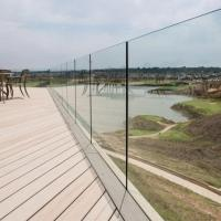 Buy cheap Exterior Frameless Glass Deck Railing with Aluminum U Channel Profile / U Channel Glass Balustrade product
