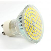 Buy cheap Aluminum glass led spot light GU10 AC85-265V E27 bulb 60pcs SMD2835 new down indoor lamp product