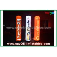 Buy cheap 2m advertising inflatable pillar with LED lighting for decoration from wholesalers