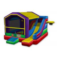 Royal Inflatable Basketball Bounce House , Sports Games Castle Bounce House With Slide