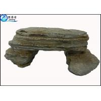 China Simulation Stone Bench Handmade Non-toxic Resin Ornaments Home Aquarium Accessories on sale