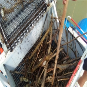 Buy cheap SUS 1000m2/Hr Aquatic Weed Harvesting Machine 2m Mowing Width product
