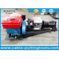 China Tower Erection Tools 1 Ton Wire Rope Cable Pulling Winch Portable Diesel Hoist Winch wholesale