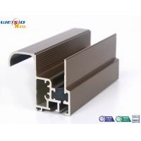 Buy cheap Aluminum Construction Profiles Sliding Windows With Coffee Powder Coated / Double Glazed product