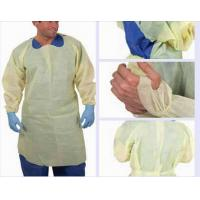 Yellow CPE Isolation gown ,CPE Waterproof isolation gown , CPE medical gowns