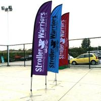 China Knife Shape Custom Wing Shape Advertising Beach Banner Event Flag For Sale on sale