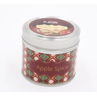 Buy cheap Hot sale paraffin wax luxury scented travel tin candle with color label finish product