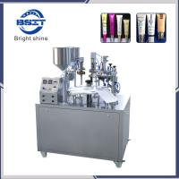 China Semi Automatic/Toothpaste/ Soft cream Plastic Tube Filling Sealing Machine with SS316L on sale