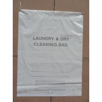 Dry Cleaning Shop Disposable Plastic Laundry Bag Poly Drawstring Bags