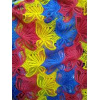 China Customized Factory supply Colorful embroidery polyster lace fabrics on sale
