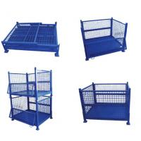 Wire mesh security cage pallet container box