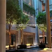 Buy cheap 4m Green Artificial Ficus Tree For Shopping Center Decoration Anti - Ultraviolet product