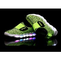 Buy cheap Green Microfiber Upper Kids Sport Shoes LED Light Up Casual Kids LED Shoes product