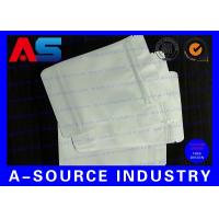 China 7 * 10 Cm White Plastic Sleeves Aluminum Foil Bags Zip Lock Pounch For Capsules wholesale