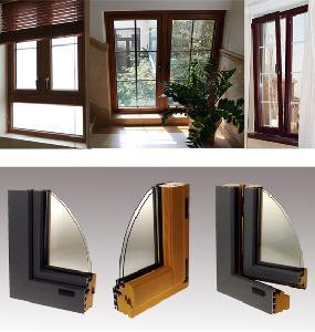 China 68 Aluminum Cladding Wood Windows and Doors on sale