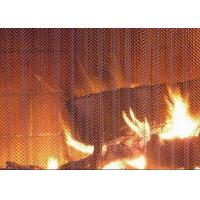 Buy cheap Professional Metal Coil Drapery / Lightweight Mesh Curtain Fireplace Screen product